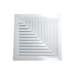 Metal Louvre Face Diffusers (Model LFD) - Two Way Corner Blow