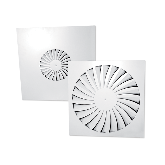 Square Swirl Diffusers - Model PSB