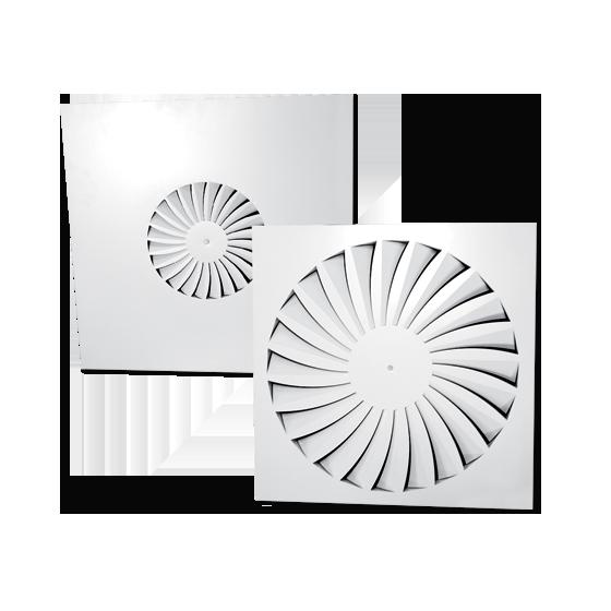 Square Swirl Diffusers - Model PSB