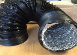 Black Combi Flex Ducting