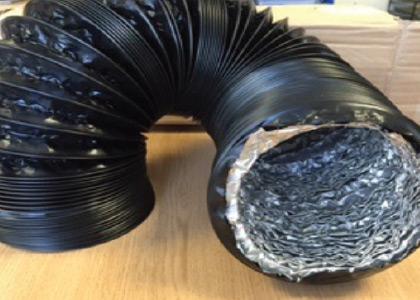 Black Combi Flex Ducting